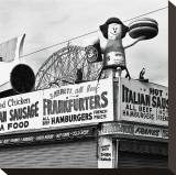 Coney Island Frankfurters Stretched Canvas Print by Erin Clark