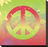 Outtasight Peace Stretched Canvas Print by Erin Clark