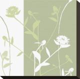 Vilde blomster Opspændt lærredstryk af Erin Clark