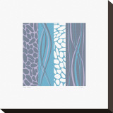 Pebble Stream Stretched Canvas Print by Denise Duplock