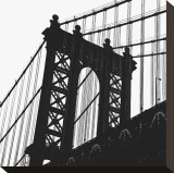 Manhattan Bridge Silhouette (detail) Toile tendue sur châssis par Erin Clark