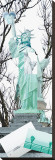 Statue of Liberty Collage Stretched Canvas Print by Erin Clark