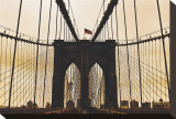 Brooklyn Bridge I Stretched Canvas Print by Erin Clark