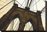 Brooklyn Bridge II (sepia) Reproduction transférée sur toile par Erin Clark