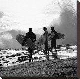 Surfers Stretched Canvas Print by Harold Silverman