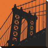 Orange Manhattan Toile tendue sur châssis par Erin Clark