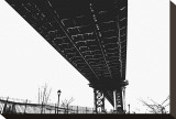 Beneath the Span (silhouette) Stretched Canvas Print by Erin Clark