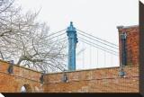 Manhattan Bridge and Brick Wall Toile tendue sur châssis par Erin Clark