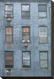 Blue Building Stretched Canvas Print by Erin Clark