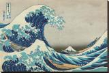 The Great Wave at Kanagawa Impressão em tela esticada por Katsushika Hokusai