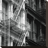 Fire Escape Stretched Canvas Print by Erin Clark
