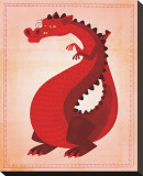 Red Dragon Stretched Canvas Print by John Golden