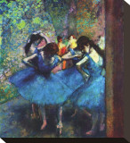 Ballerinas Stretched Canvas Print by Edgar Degas