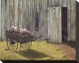 The Flower Cart Opspændt lærredstryk af Kathleen Green