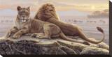 Leones de Mara Reproducción en lienzo de la lámina por Kalon Baughan