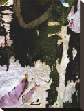 Black Lilac Layers Stretched Canvas Print by Jenny Kraft