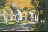 Carretera del arroyo Reproducción en lienzo de la lámina por Gene Mcinerney