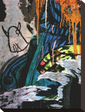 Blue Orange Layers II Stretched Canvas Print by Jenny Kraft
