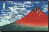 Red Fuji Stretched Canvas Print by Katsushika Hokusai
