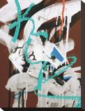 Aqua Tag I Stretched Canvas Print by Jenny Kraft