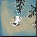 Suivez votre coeur, balançant tranquillement Reproduction sur toile tendue par Kristiana Pärn