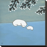 Follow Your Heart, Napping Under Marshmallow Tree Reproduccin en lienzo de la lmina por Kristiana Prn