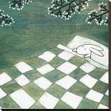 Napping Under Marshmallow Tree Reproduction transférée sur toile par Kristiana Pärn