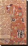 Fulfillment, Stoclet Frieze, c.1909 Impressão em tela esticada por Gustav Klimt