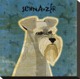 Schnauzer Stretched Canvas Print by John Golden