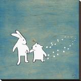 Follow Your Heart, Go Together Lærredstryk på blindramme af Kristiana Pärn
