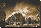 Smithfield, London Stretched Canvas Print by Marcin Stawiarz