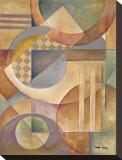 Circular Rhythms II Stretched Canvas Print by Marlene Healey