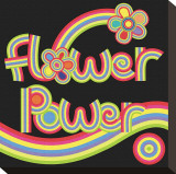 Flower Power Stretched Canvas Print by Mali Nave