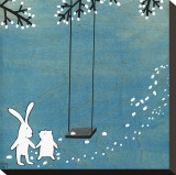 Follow Your Heart- Let&#39;s Swing Stretched Canvas Print by Kristiana P&#228;rn