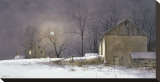 Evening At Long Farm Stretched Canvas Print by Ray Hendershot