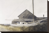 Drydocked Stretched Canvas Print by Ray Hendershot
