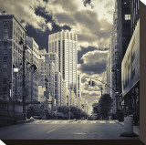 New York City Stretched Canvas Print by Oleg Lugovskoy