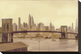 Brooklyn Flow Stretched Canvas Print by S. Garrett