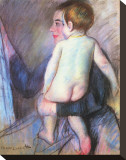 At the Window Stretched Canvas Print by Mary Cassatt