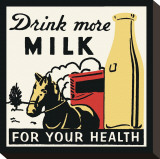 Drink More Milk for Your Health Stretched Canvas Print