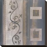 Arctic Applique Stretched Canvas Print by  Verbeek & Van Den Broek