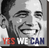 Barack Obama: Yes We Can Stretched Canvas Print