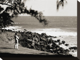 Surf Check, 1930 Stretched Canvas Print by Tom Blake