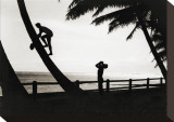 Hawaiian Silhouette, 1931 Stretched Canvas Print by Tom Blake