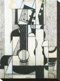 Still Life with Guitar Stretched Canvas Print by Juan Gris