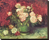 Roses and Peonies, c.1886 Leinwand von Vincent van Gogh