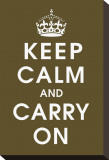 Keep Calm (chocolate) Stretched Canvas Print