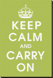 Keep Calm (kiwi) Stretched Canvas Print