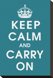 Keep Calm (peacock) Stretched Canvas Print
