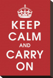 Keep Calm (Red) Stretched Canvas Print